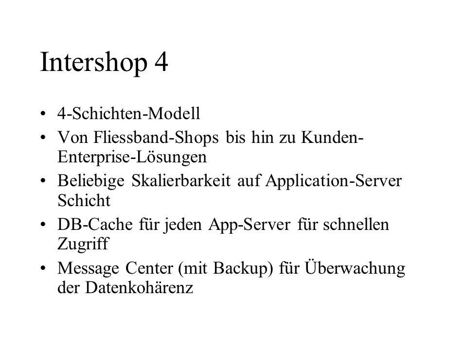 Intershop 4 4-Schichten-Modell