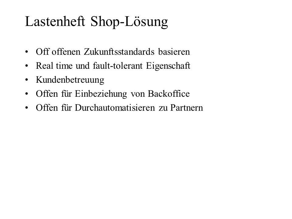 Lastenheft Shop-Lösung