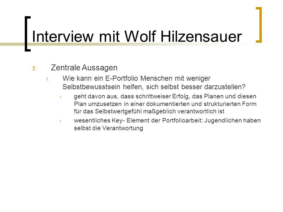 Interview mit Wolf Hilzensauer