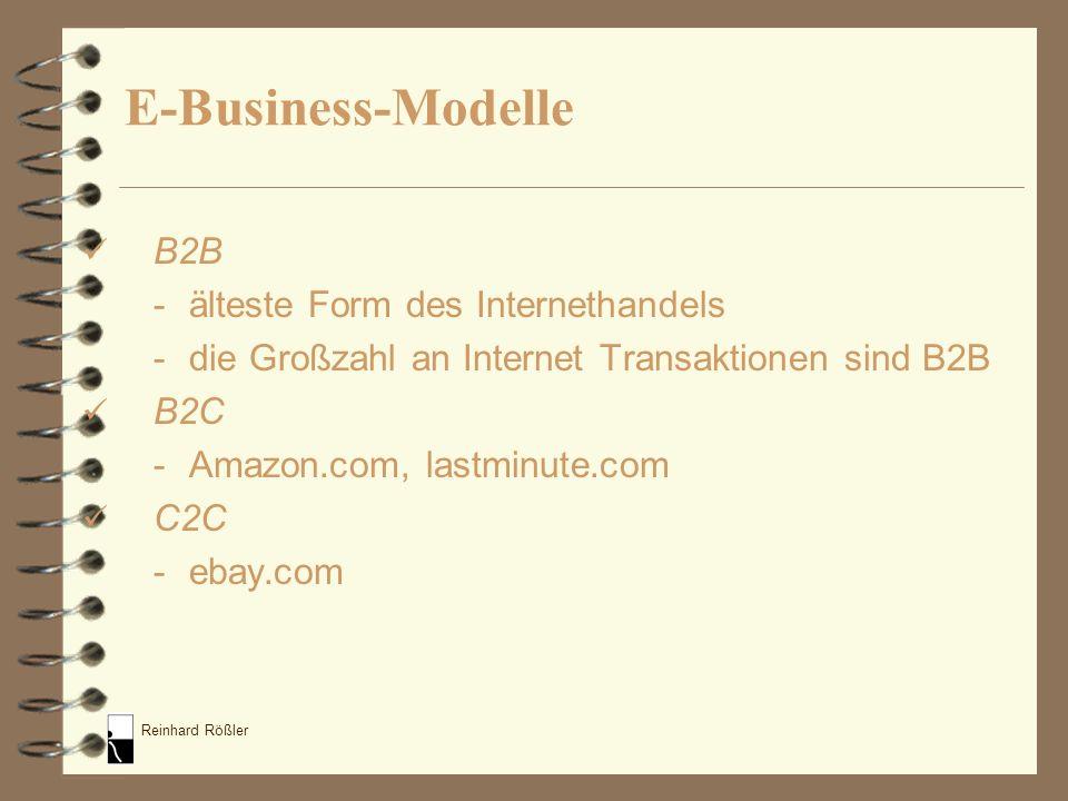 E-Business-Modelle B2B - älteste Form des Internethandels