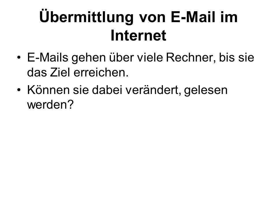 Übermittlung von E-Mail im Internet