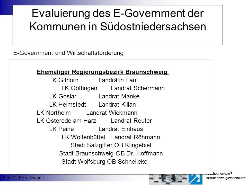 Evaluierung des E-Government der Kommunen in Südostniedersachsen