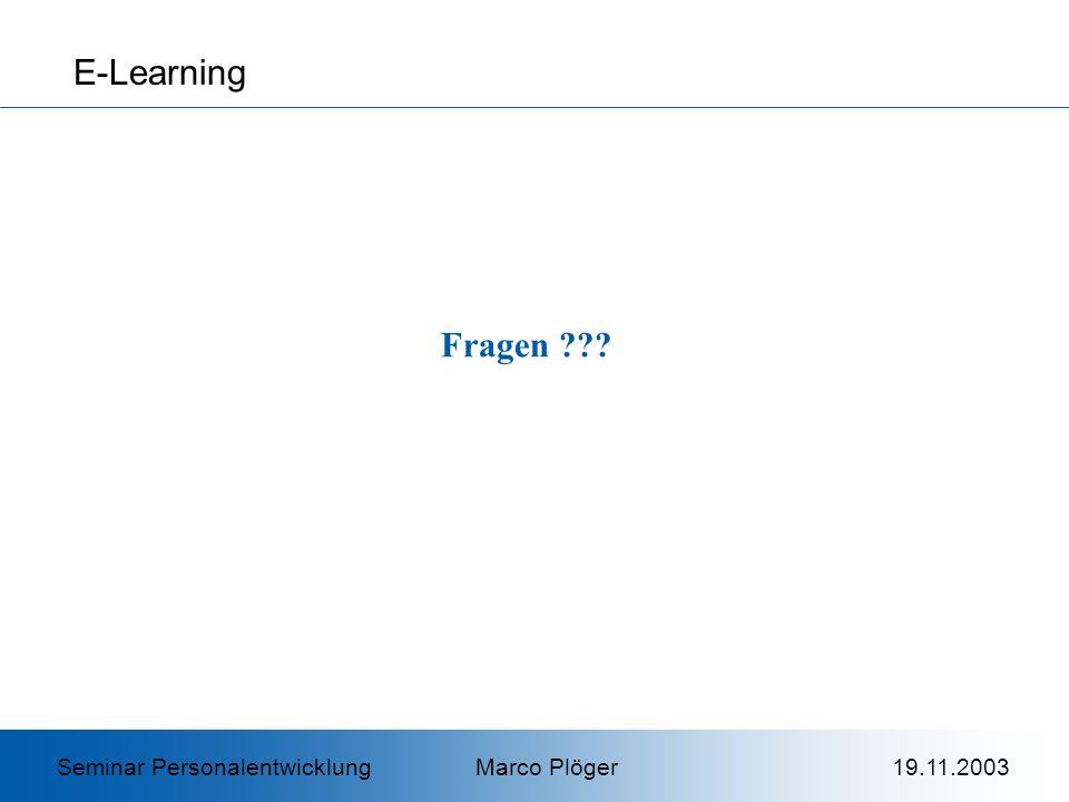 E-Learning Fragen .