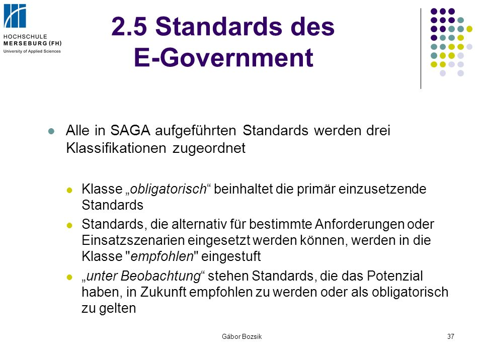 2.5 Standards des E-Government