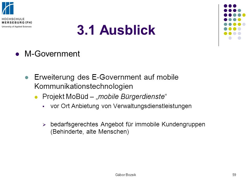 3.1 Ausblick M-Government