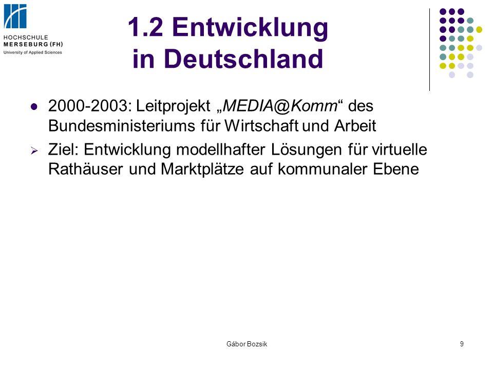 1.2 Entwicklung in Deutschland