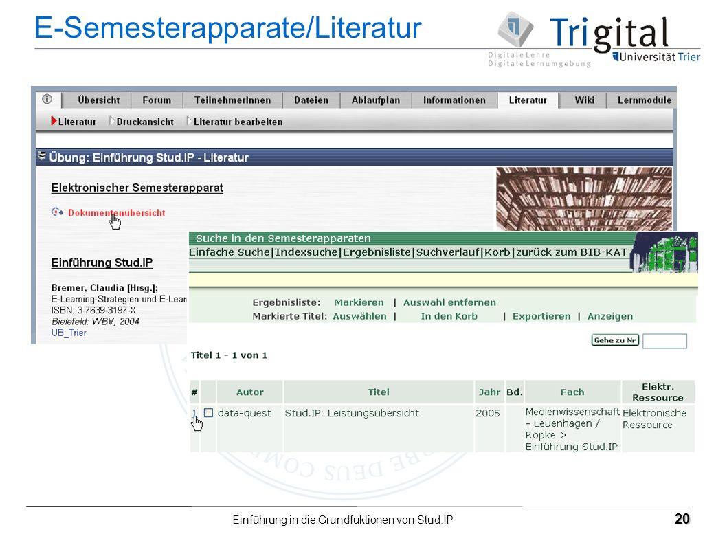 E-Semesterapparate/Literatur
