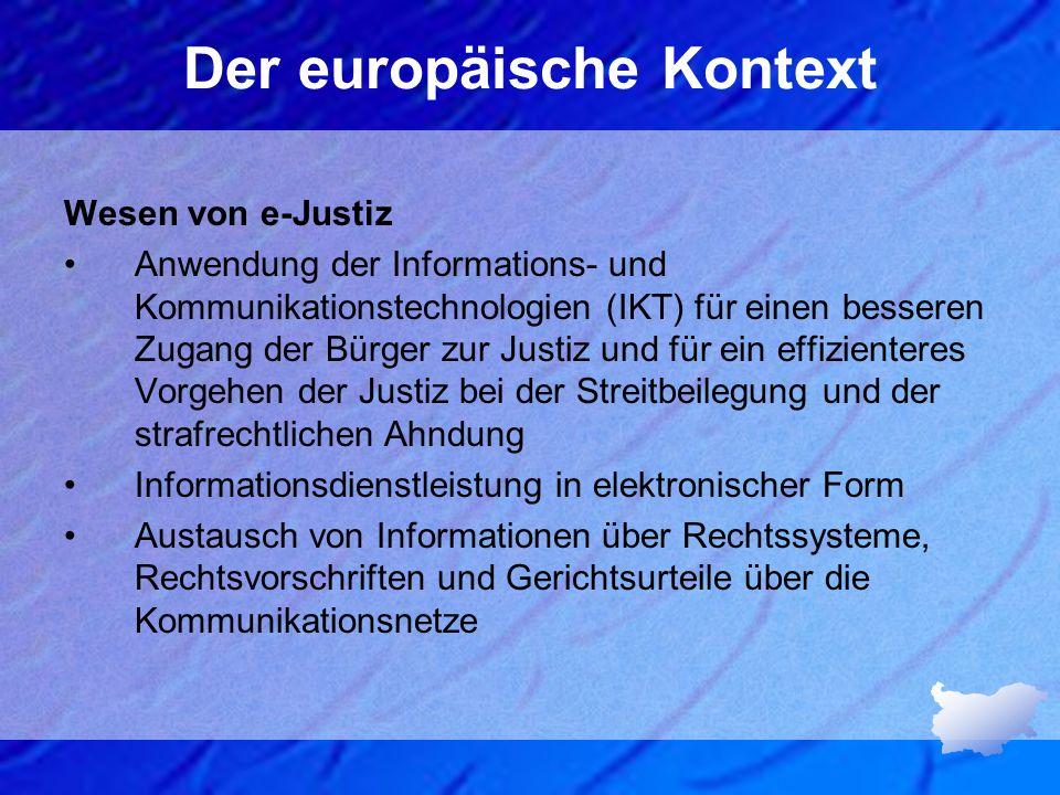 Der europäische Kontext