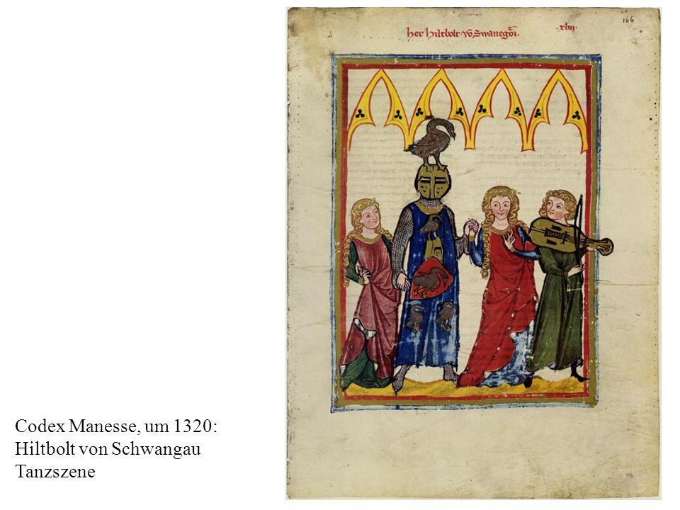 Codex Manesse, um 1320: Hiltbolt von Schwangau Tanzszene
