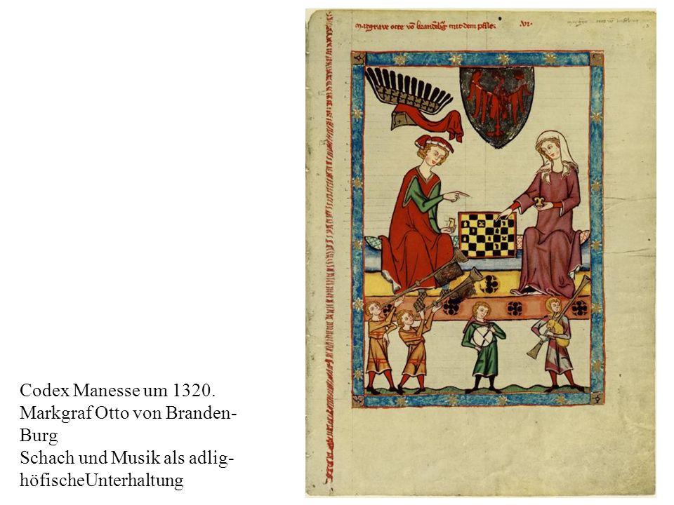 Codex Manesse um 1320. Markgraf Otto von Branden- Burg.
