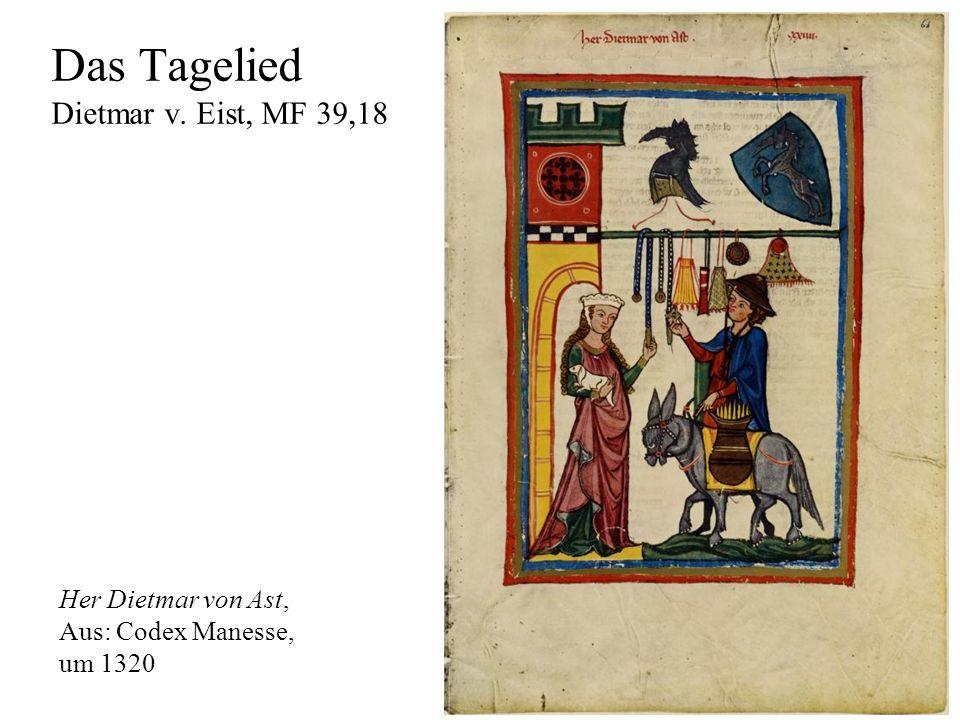 Das Tagelied Dietmar v. Eist, MF 39,18