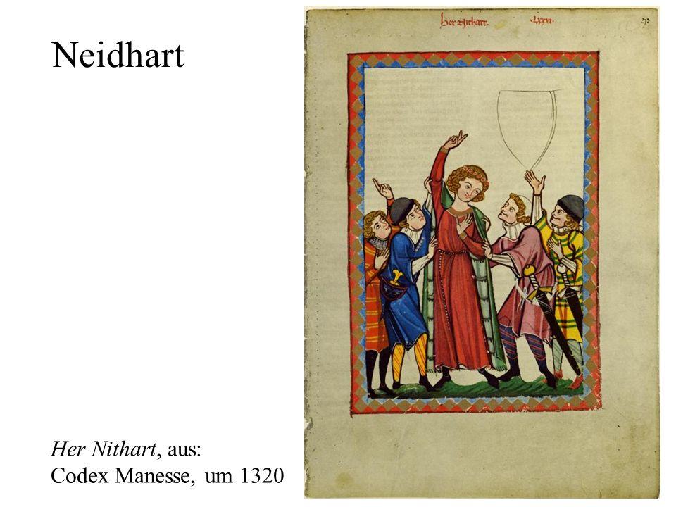 Neidhart Her Nithart, aus: Codex Manesse, um 1320