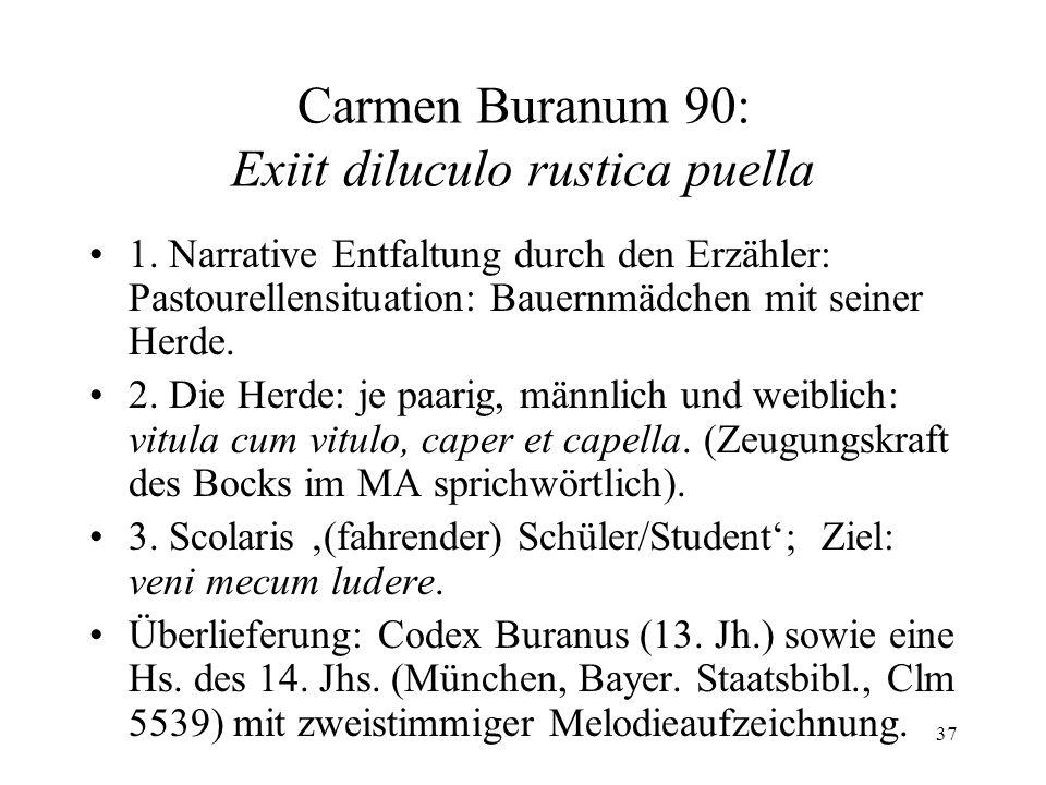 Carmen Buranum 90: Exiit diluculo rustica puella