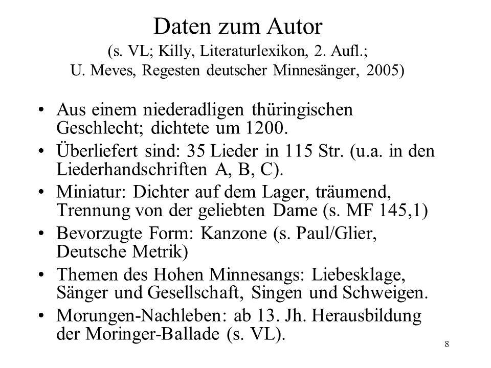 Daten zum Autor (s. VL; Killy, Literaturlexikon, 2. Aufl. ; U