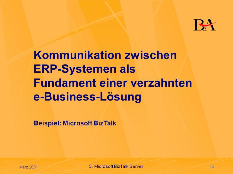 Kommunikation zwischen ERP-Systemen als Fundament einer verzahnten e-Business-Lösung