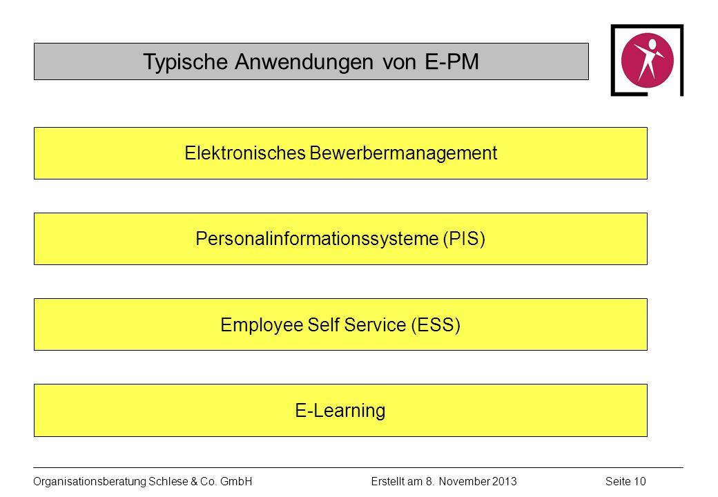 Typische Anwendungen von E-PM