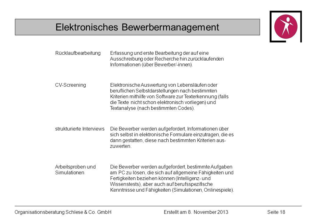 Elektronisches Bewerbermanagement
