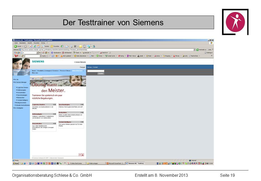 Der Testtrainer von Siemens