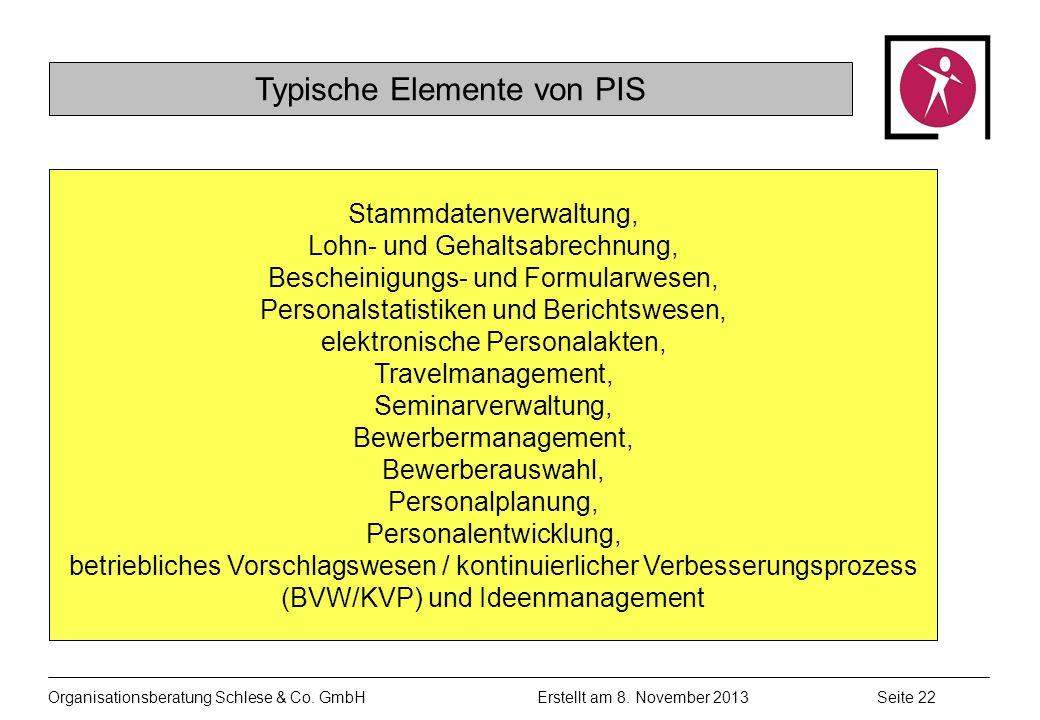 Typische Elemente von PIS
