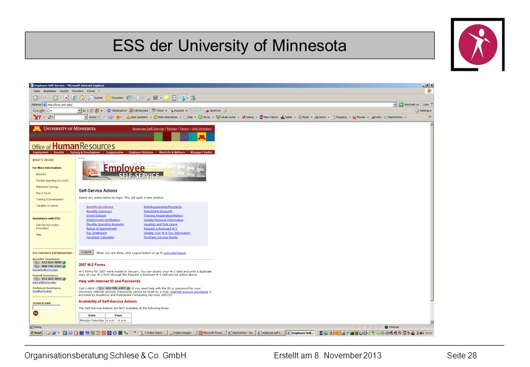 ESS der University of Minnesota