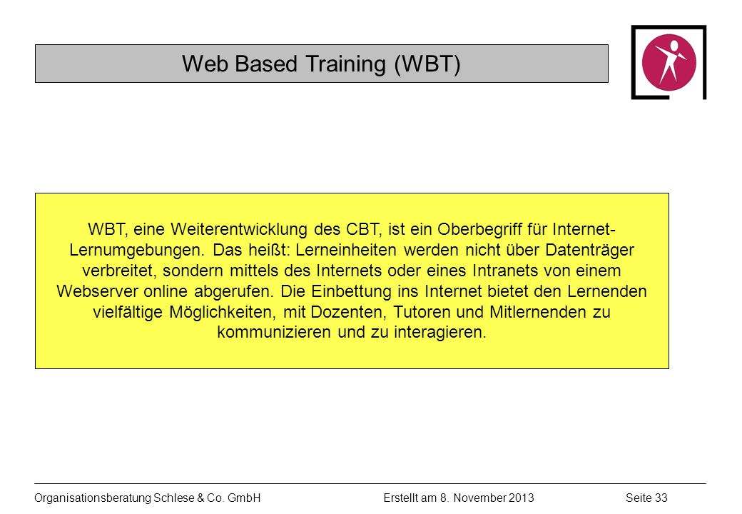Web Based Training (WBT)