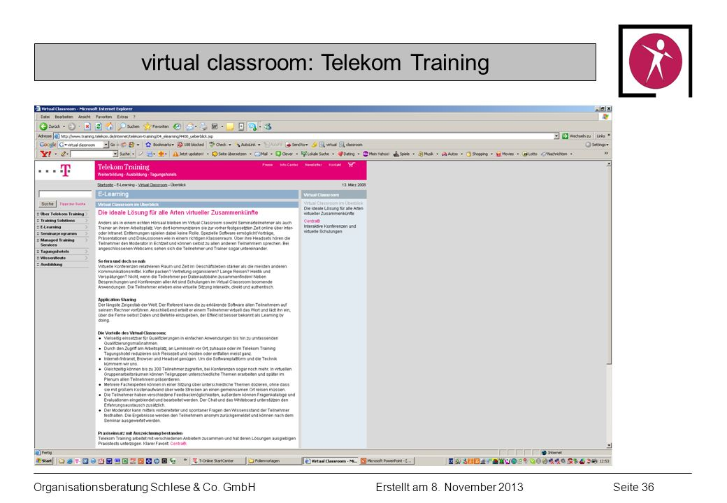 virtual classroom: Telekom Training