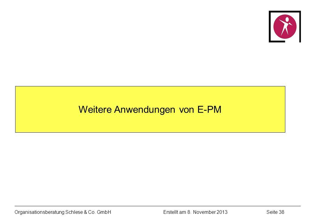 Weitere Anwendungen von E-PM