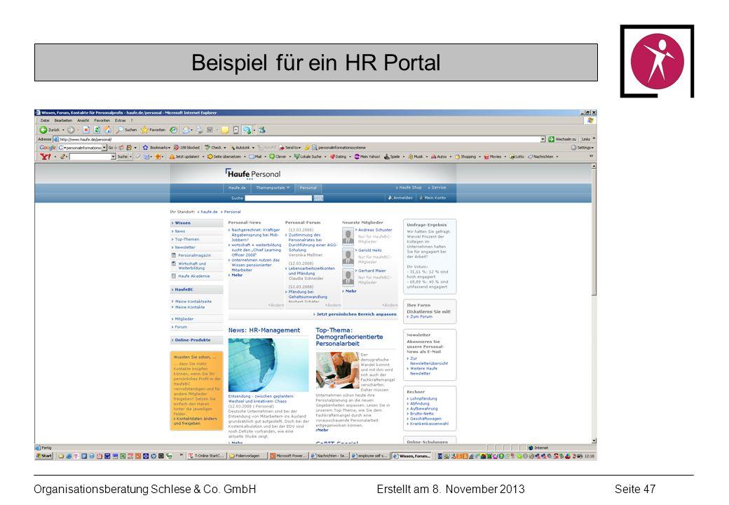 Beispiel für ein HR Portal