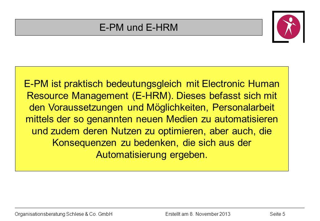 E-PM und E-HRM