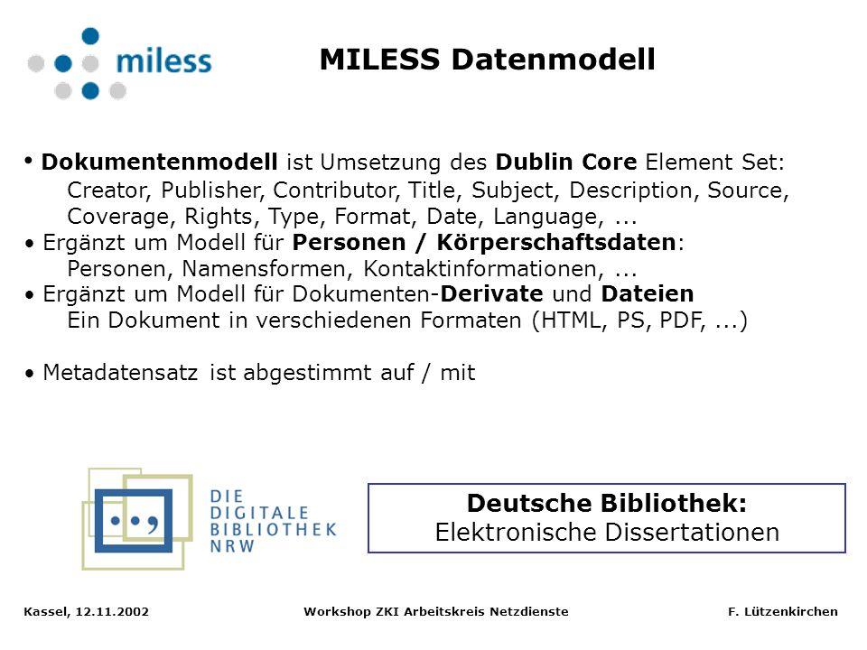 Deutsche Bibliothek: Elektronische Dissertationen