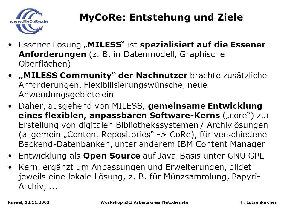 MyCoRe: Entstehung und Ziele