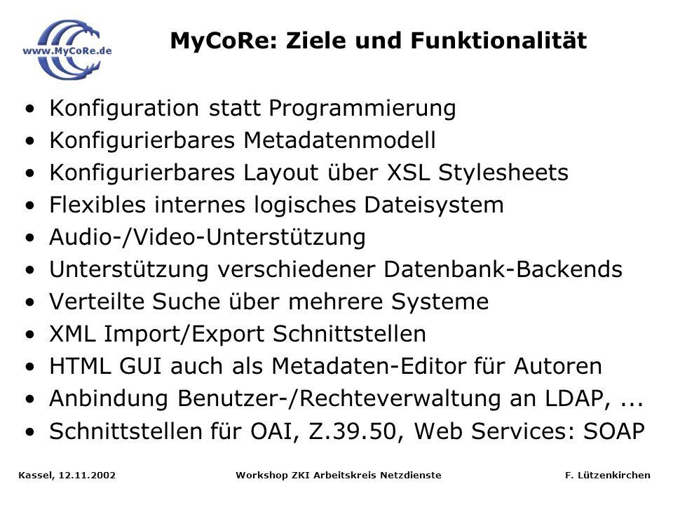 MyCoRe: Ziele und Funktionalität