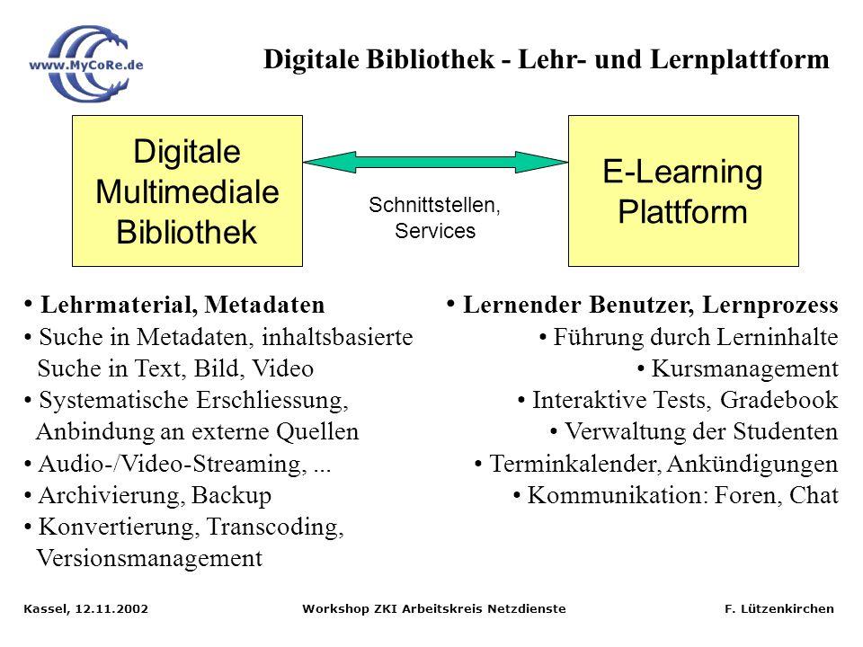 Digitale Bibliothek - Lehr- und Lernplattform