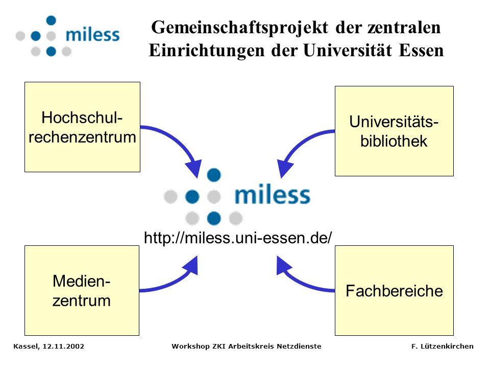 Gemeinschaftsprojekt der zentralen Einrichtungen der Universität Essen