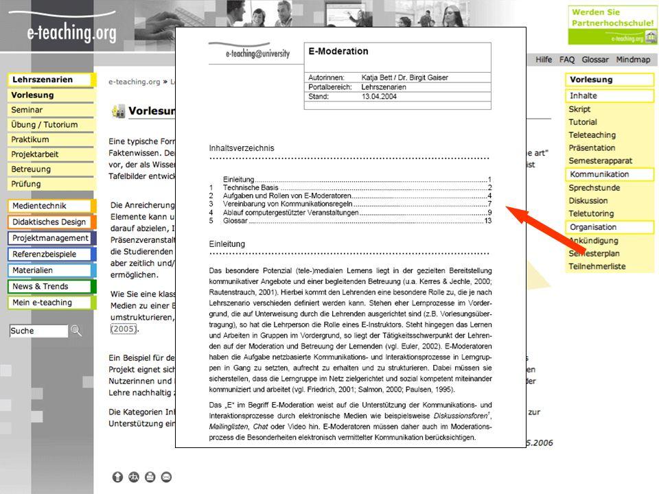 Vorstellen der Inhaltsbereiche und Textsorten