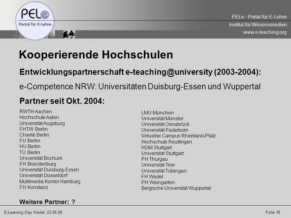 Kooperierende Hochschulen