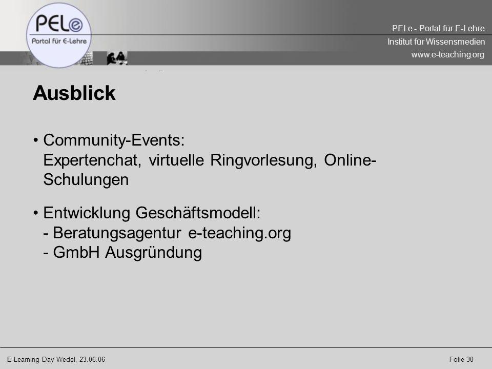 AusblickCommunity-Events: Expertenchat, virtuelle Ringvorlesung, Online-Schulungen.