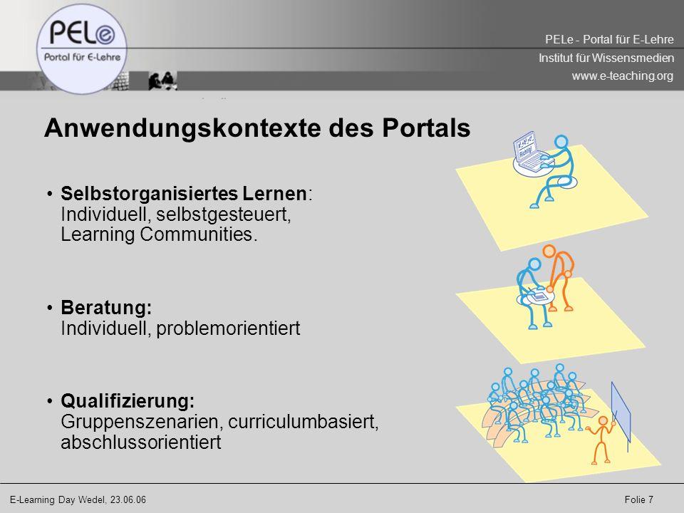 Anwendungskontexte des Portals