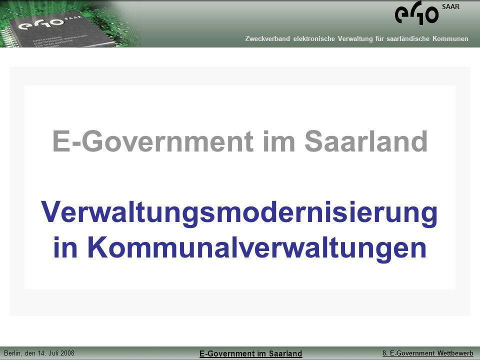 E-Government im Saarland Verwaltungsmodernisierung in Kommunalverwaltungen
