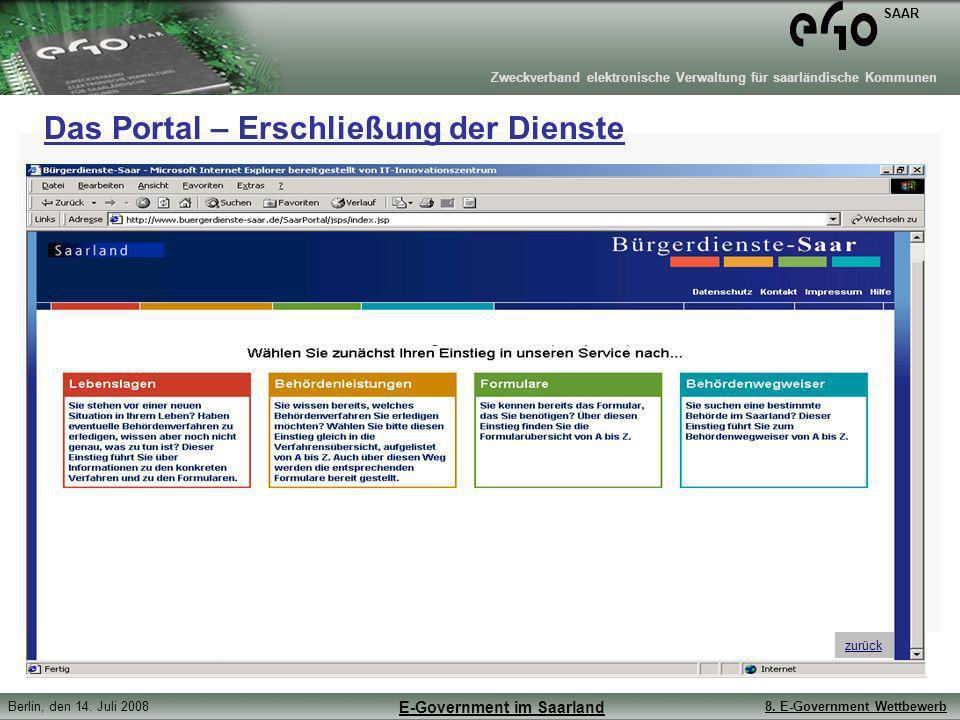 Das Portal – Erschließung der Dienste