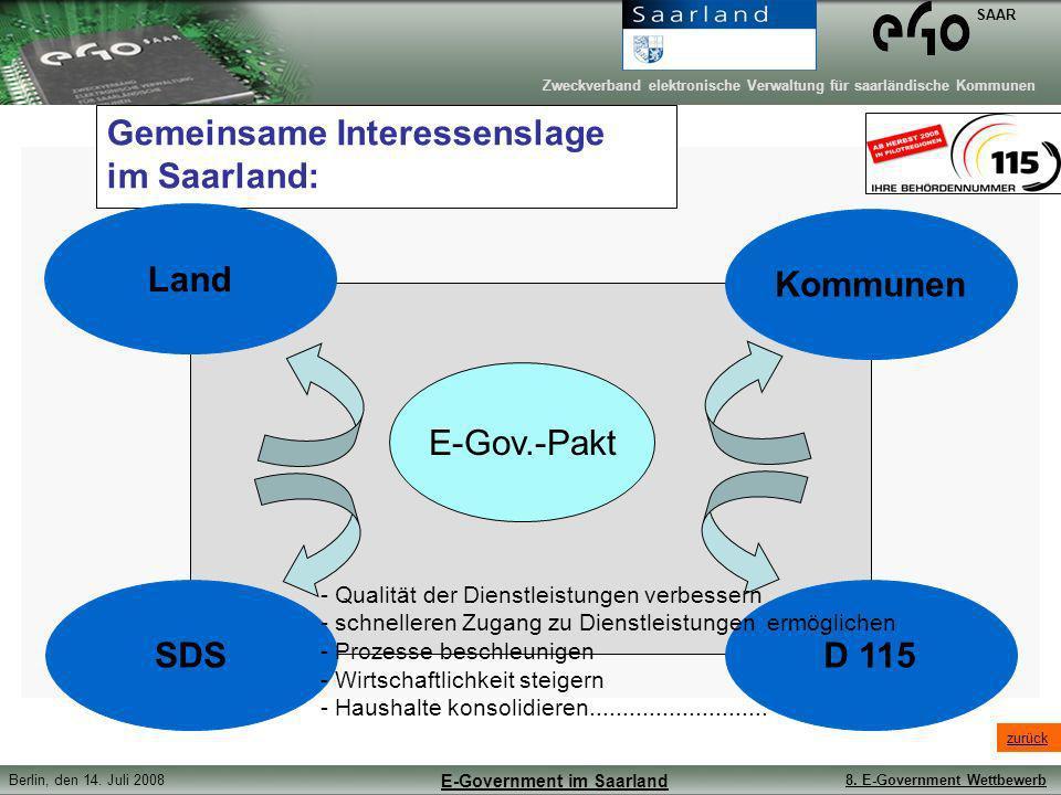 Gemeinsame Interessenslage im Saarland: