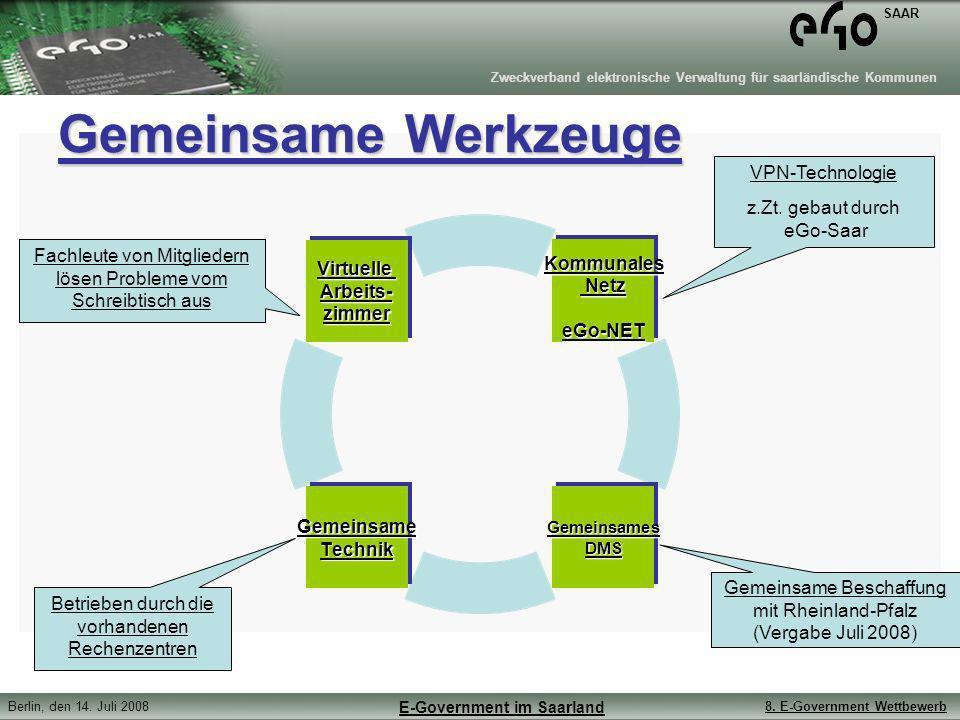 Gemeinsame Werkzeuge VPN-Technologie z.Zt. gebaut durch eGo-Saar