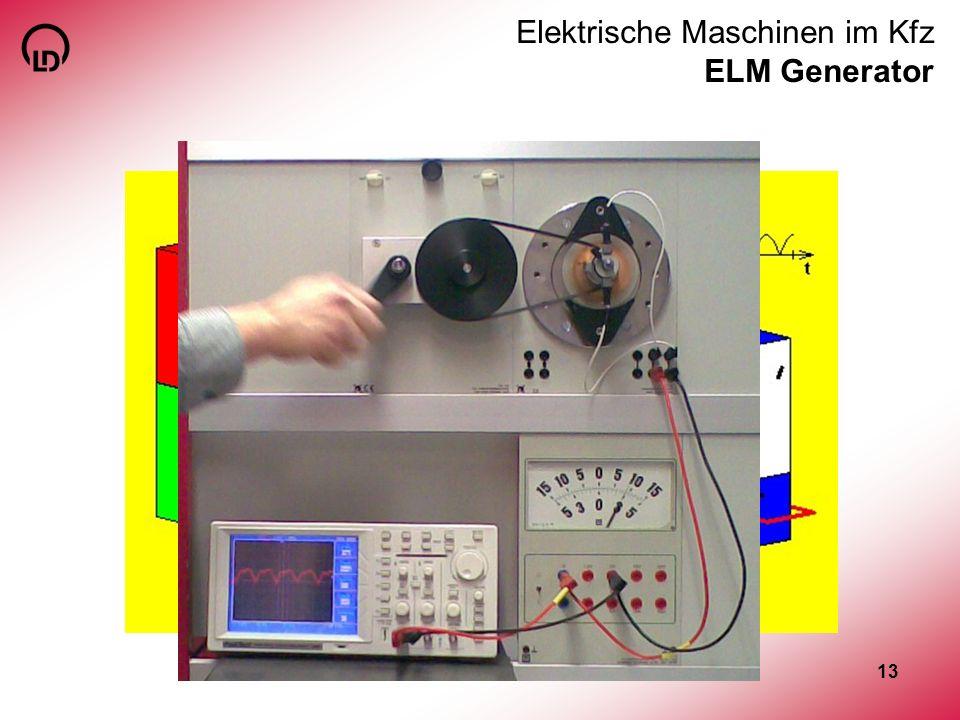 Elektrische Maschinen im Kfz ELM Generator