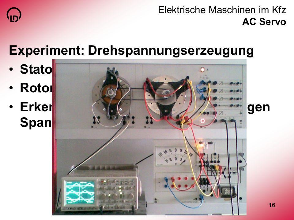 Elektrische Maschinen im Kfz AC Servo