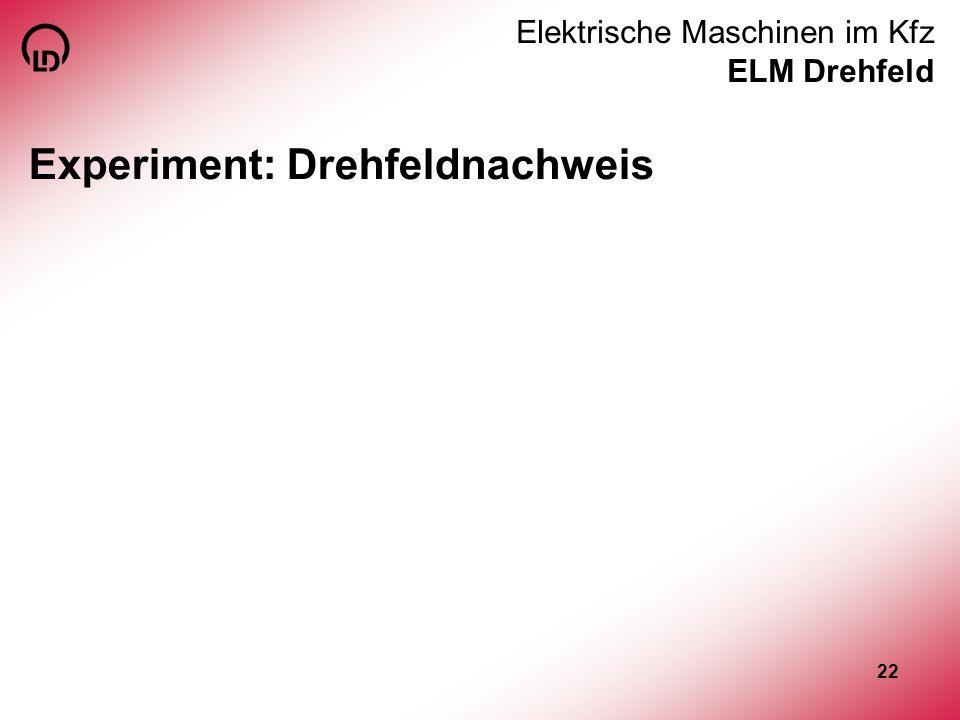 Elektrische Maschinen im Kfz ELM Drehfeld