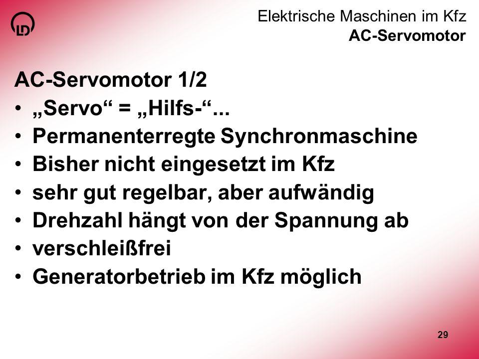 Elektrische Maschinen im Kfz AC-Servomotor