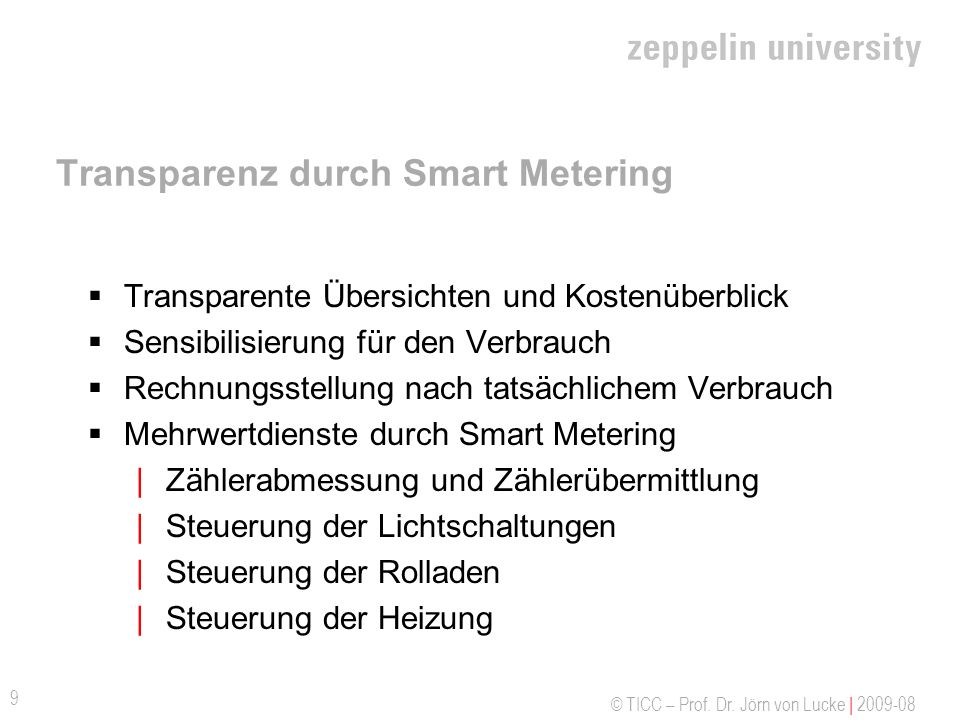 Transparenz durch Smart Metering