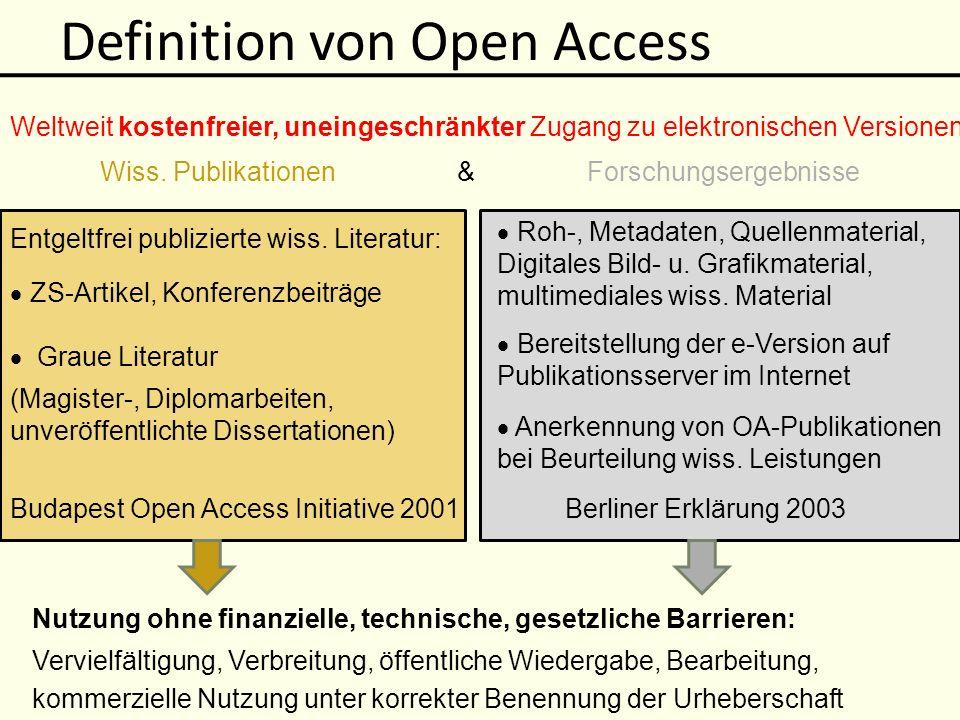 Definition von Open Access