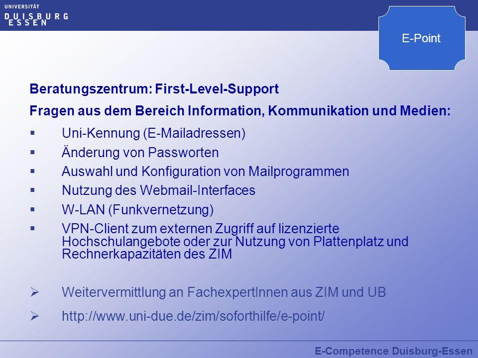 Beratungszentrum: First-Level-Support