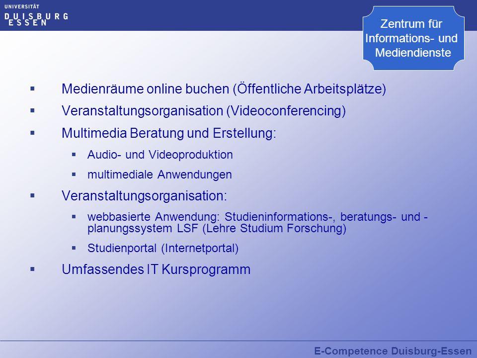 Medienräume online buchen (Öffentliche Arbeitsplätze)